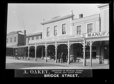 Oakey A., Music Shop & Fancy Goods, Bridge St.