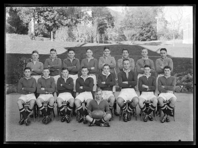 Nelson College, Rutherford House, 1st XV, gp 17, 1937