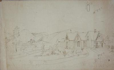 Sketch of A. Fell's house