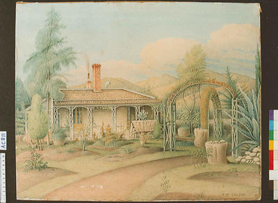Dr. Renwick's house, with cacti