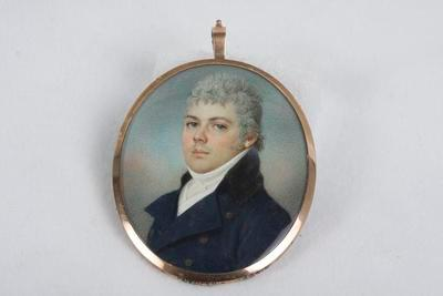[Portrait of an unknown man with lock of hair I]