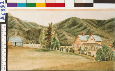 The Grange, Motueka, built by Fred. D. Greenwood about 1860.