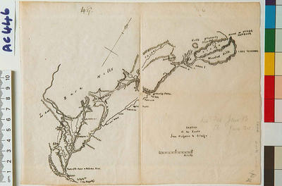 Sketch of the route from Molyneux to Otago
