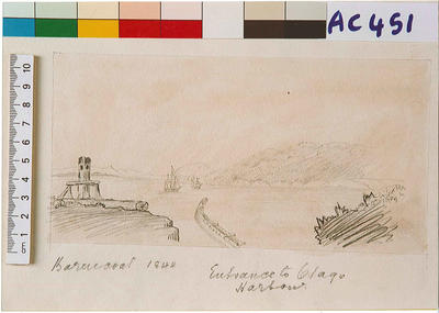 Entrance to Otago Harbour in 1844