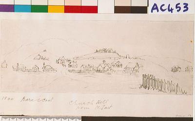Nelson fortified from northeast, 1844