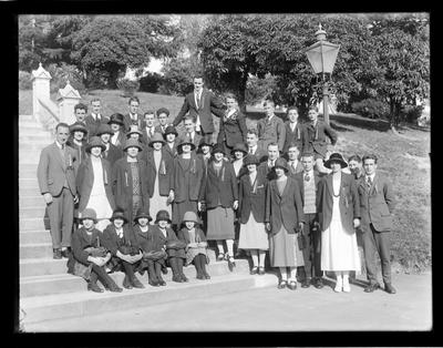 Young Men's Christian Association, Gymnastic group on Church Steps