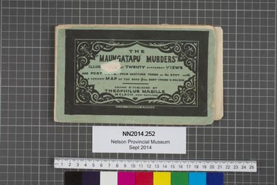 The Maungatapu murders : illustrated by twenty different views and portraits from sketches taken on the spot with a correct map of the road from Deep Creek to Nelson / drawn by Theophilus Mabille; 1866;