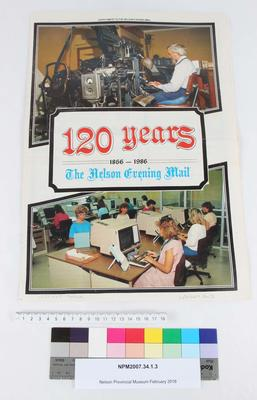 120 years, 1866-1986, The Nelson Evening Mail : supplement