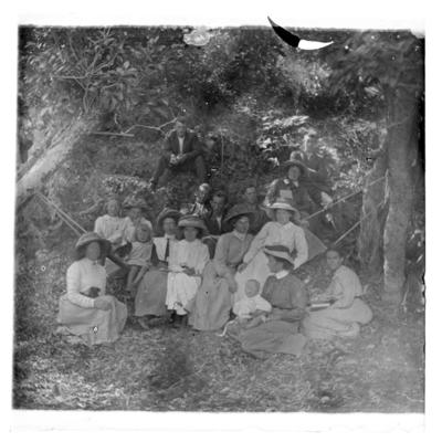 Campers in hammock at Ruby Bay