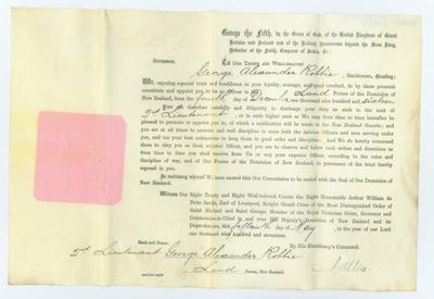 Notice of appointment of George Alexander Robbie to the rank of 2nd Lieutenant