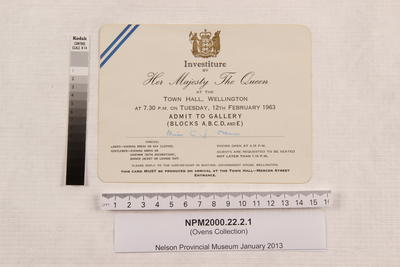 Invitation; 12 Feb 1963; NPM2000.22.2.1