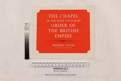 The Chapel of the Most Excellent Order of the British Empire / Frederic Hood, Sub-dean of the order; NPM2000.22.5