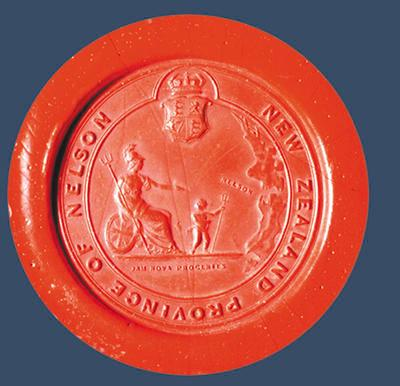 Nelson Provincial Government wax seal impression