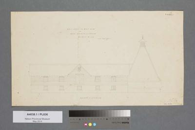 Malthouse and malt kiln for Messrs Hooper and Dodson, brewers, Nelson : north elevation