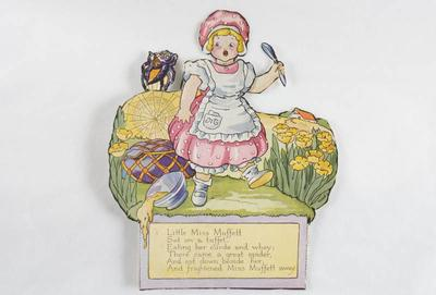 Little Miss Muffet and spider : paper doll