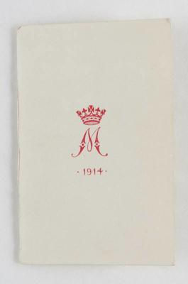 Christmas card from Princess Mary, 1914
