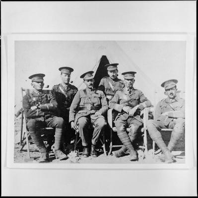 Officers of 12th Nelson Coy who landed on Gallipoli 25 April 1915