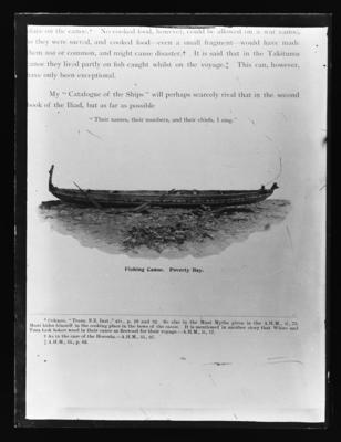 Fishing Canoe, Poverty Bay. A  Hamilton, 1901, p 28