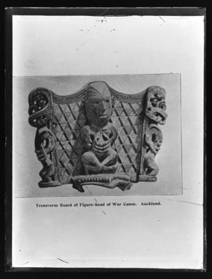 Transverse Board of Figure-head of War Canoe. Auckland. A Hamilton 1901, p 24