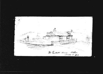 Barnicoat Sketch, Mr Tuckett's House, Nelson Nov 9, 1843