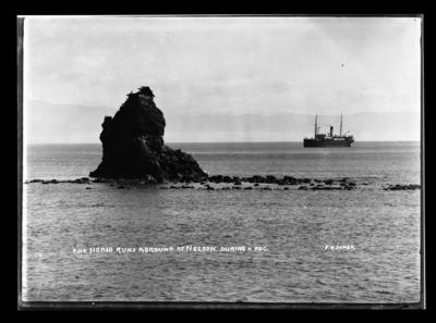 The Ngaio Runs Aground at Nelson. During a Fog.