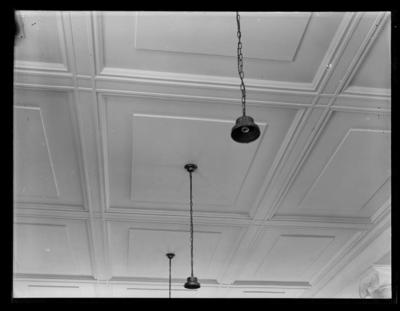 Ceiling panels and electric light fittings
