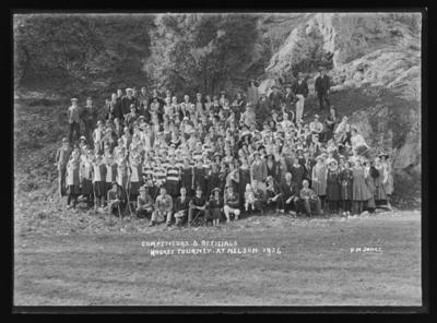 Competitors & Officials Hockey Tourney. At Nelson. 1924