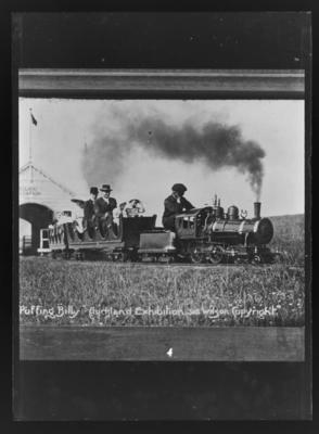 """""""Puffing Billy"""". Auckland Exhibition. 3115 Wilson. """"Copyright"""""""