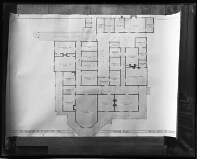 Ground plan of residence of Mr F Hamilton, Mayroyd
