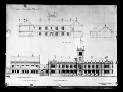 Nelson College, Architect's Elevation Plan