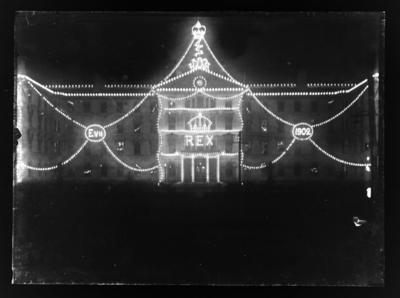 Decorative lights, Edward VII's Coronation, 1902