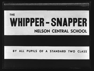 Robinson, Mr Forbes E., school production sign