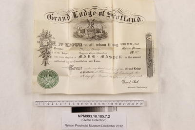 Certificate; 10 Aug 1909; NPM993.18.185.7.2