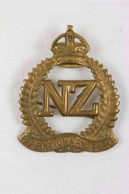Hat Badge, New Zealand Expeditionary Force; 1914-1919; NPM993.18.127.2