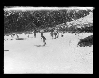 Mt Cook, large group, skiers