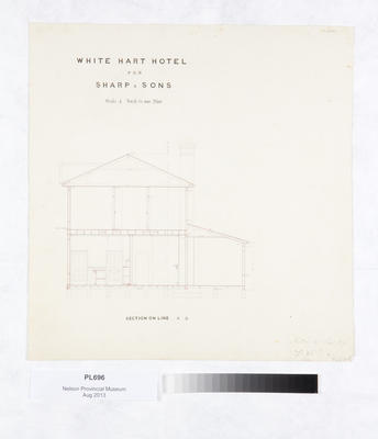 White Hart Hotel for Sharp & Sons : section on line