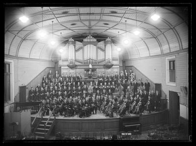 Nelson College orchestra, 1953