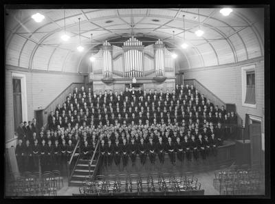 Nelson College massed choir, 1954