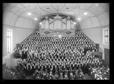 Nelson College for Girls, massed choir, 1954