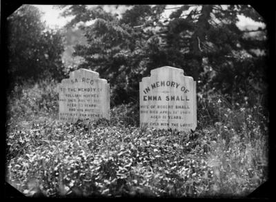 Graves of William and Harriett Hughes, and Emma Small