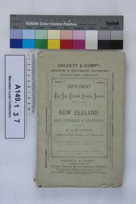 New Zealand : her commerce and resources