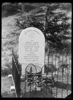 Tombstone, Fanny Jane and Charles Cook
