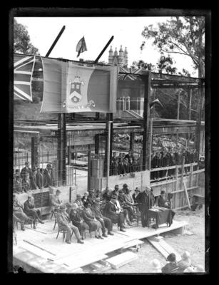 Nelson College Boarding House,  Rutherford House, under construction