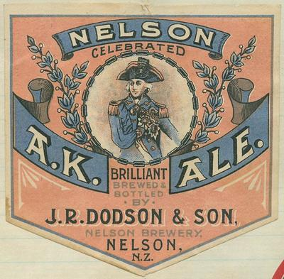 Nelson celebrated A.K. Brilliant Ale : brewed & bottled by J.R. Dodson & Son, Nelson Brewery, Nelson, N.Z.