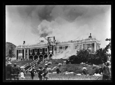 Burning of Boys College Nelson
