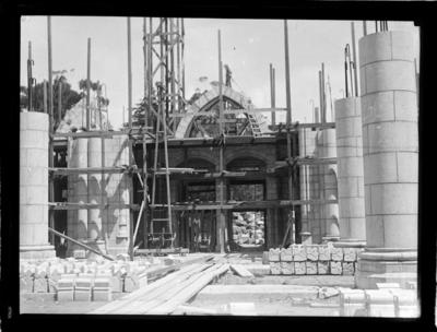Christ Church Cathedral construction, Nelson, 1931