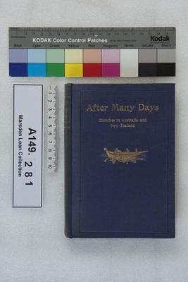 After many days : sketches in Australia and New Zealand; 1907; A149.281
