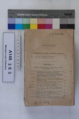 Documents appended to the twelfth report of the directors of the New Zealand Company, April 26, 1844; 1844; A149.363