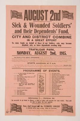 August 2nd : Sick & Wounded Soldiers' and their Dependents' Fund