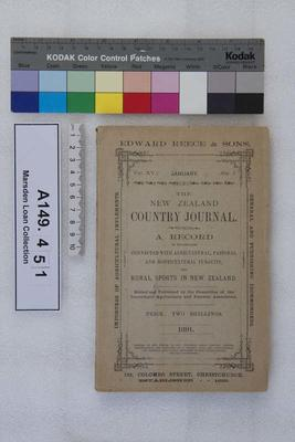 The New Zealand country journal. Vol. 15...1891; 1891; A149.451